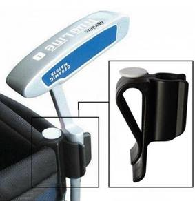 Golf Bag Clip-on Putter Holder with Ball Marker