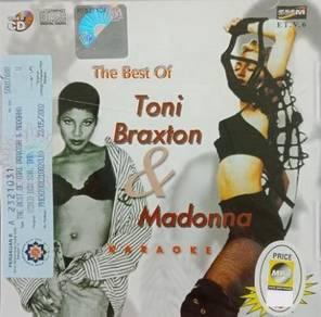 VCD Toni Braxton Madonna The Best Of Karaoke