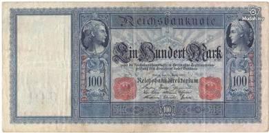 Germany 100 marks 1910 vf