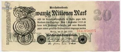 Germany 20000000 marks 1923 vf big