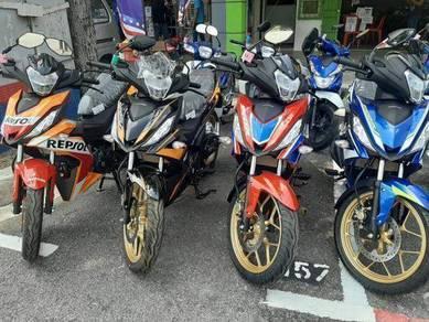 Promo honda rs150 !! depo kedai low dp ready stock