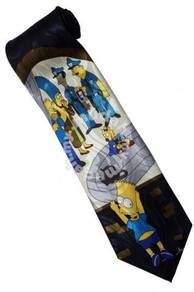 The Simpsons Marge Bart Maggie Eddie Lou Neck Tie