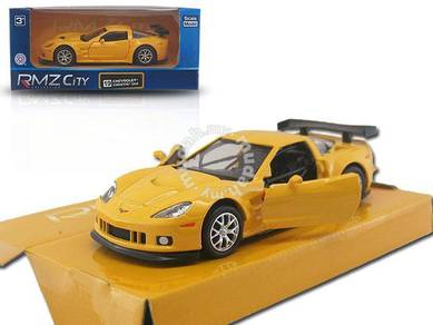 Koleksi model kereta Chevrolet corvette kuning