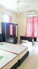 Fully Furnished Double Room With Air Cond At Bandar Baru Kampar