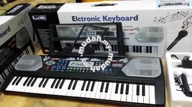 Electronic Keyboard-54Keys -(Black/White Advance)