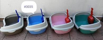Cat Litter Sand Tray Box with Scoop 39cmx29cmx18cm