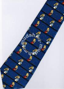 The Simpsons Bart Make Call Silk Cartoon Neck Tie