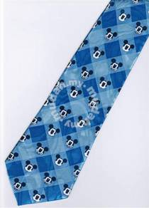 Mickey Mouse Disney Many Face Small BLUE Neck Tie