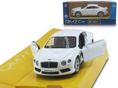 Bentley white Continental gt v8 diecast car