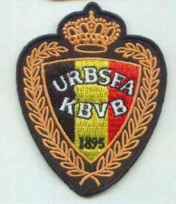Belgian KBVB or URBSFA Belgium Football Patch