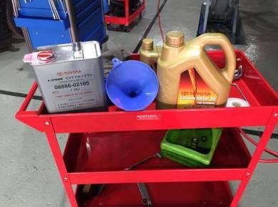 Toyota vellfire alphard estima engine oil service