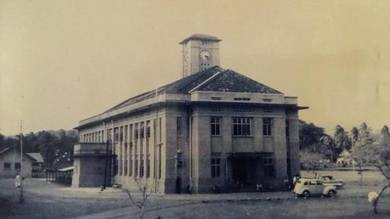 Vintage photo of kangar (perlis) clock tower