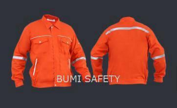 Safety working jacket waistband orange