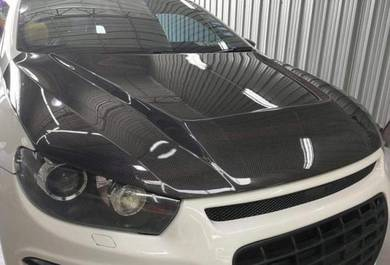 Volkswagen scirocco bonnet carbon hood bodykit cf