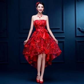 Red wedding prom bridesmaid dinner dress RBP0792