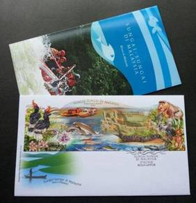 First Day Cover MS Impef Rivers In Malaysia 2018