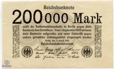 Germany 200000 marks 1923 vf+