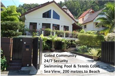 3 Storey Bungalow at Ferringhi Villas, Batu Ferringhi, Seaview