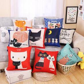 Kucing cat pillow case cushion cover chair sofa