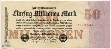 Germany 50000000 marks 1923 vf big