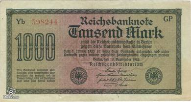 Germany 1000 marks 1922 vf