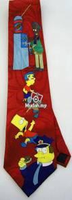 The Simpsons Bart Chief Wiggum Police Neck Tie