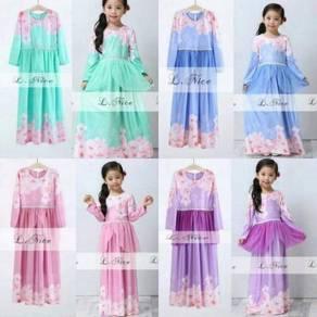 Elegance Daisy Peplum Jubah Dress (LNICE) SIZE 2-7