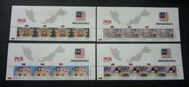 Mint Stamp 4 sets Header Negaraku Malaysia 2017