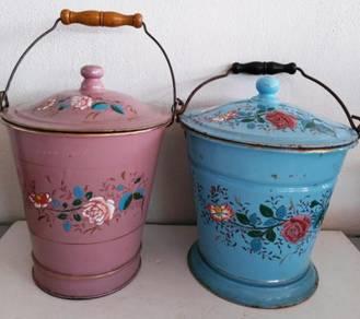 Enamel covered pail