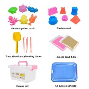 Kinetic sand Box 2kg with free gift 10pc++pc