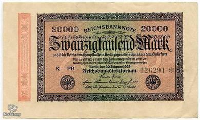 Germany 20000 marks 1923 vf