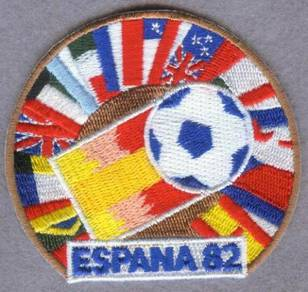 1982 12th FIFA World Cup Spain Football Patch