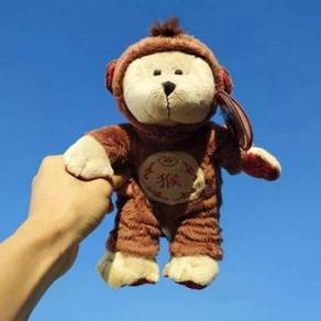 Starbucks 2016 Zodiac Monkey Bearista Plush