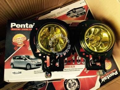 Perodua alza yellow fog lamp fog light spot light