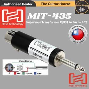 Hosa MIT435 Impedance Transformer XLR3F to 1/4''TS