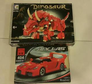 Ligao brick children Toy car dinosaur