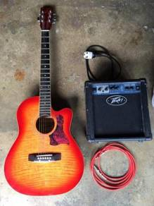 Guitar Thunder Electronic Music Gitar With Amps