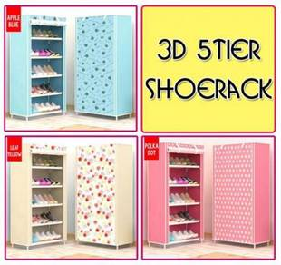 3d 5 tier shoerack