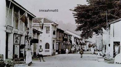 Vintage photo of kangar, perlis town in 1932