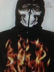 Hiphop sweat shirt flame 3D mask shirts