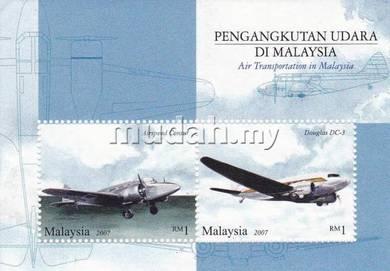 Miniature Sheet Air Transportation Malaysia 2007