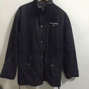 Polo Sport Ralph Lauren Black Jacket Size M flag