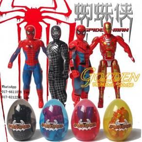 Spiderman & Iron man DEFORMATION EGG 4pcs/set