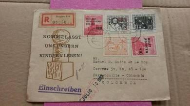Antik Old MS German Colombia 1951 No 14