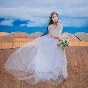 White short sleeve boho maxi dress elegant prom