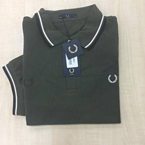 Fred Perry Contrast Stitched Piqué Shirt Dark Fer