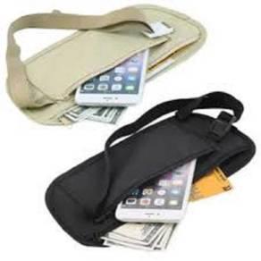 Waist Belt Bag Slim Travel Pouch Passport Purse