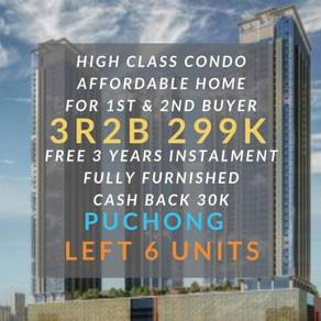 [60K Cash Back] 299K 3R2B Affordable Condo For All Buyer Putrajaya