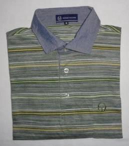 Sergio Tacchini Striped Polo Shirt (SIZE L)