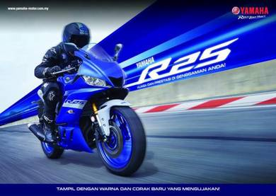 2021 Yamaha YZF-R25 New Colour Promosi Hebat!!!!!!